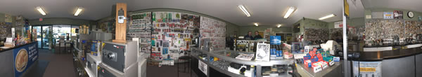 Panoramic view of our locksmith surrey store